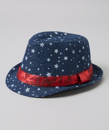 Blue & Red Star Fedora