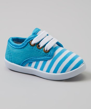 Blue & White Stripe Sneakers