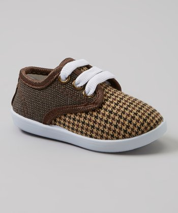 Milly & Max Brown & Black Houndstooth Sneakers