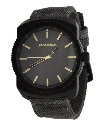 Black & Gray Canvas Watch