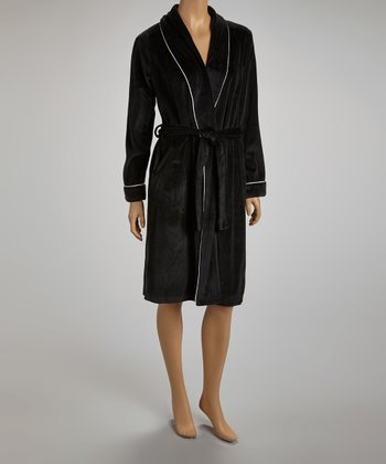 Black & White Trim Robe