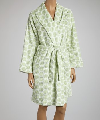 Green Circles Robe - Women