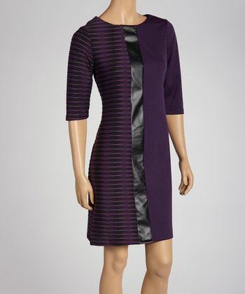 Plum Shift Dress