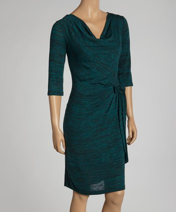 Hunter Green Drape Dress