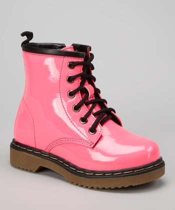 Fuchsia Patent Jane Boot