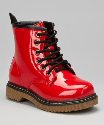 Red Patent Jane Boot