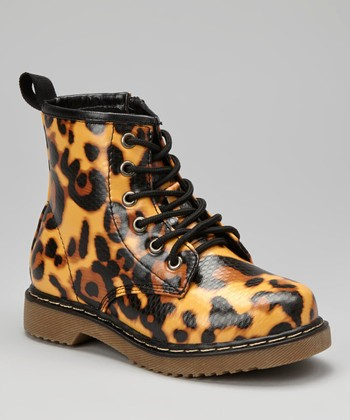 Yellow Leopard Boot