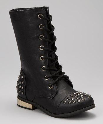 Black Studded Abby Boot