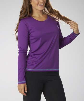 Purple Magic Scoop Neck Tee