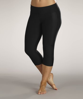 Black Performance Capri Pants
