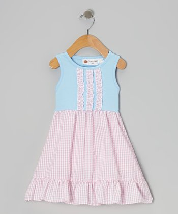 Blue & Pink Gingham Lily Dress - Infant, Toddler & Girls