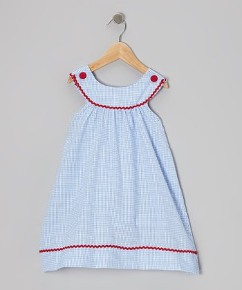 Blue Gingham Yoke Dress - Toddler & Girls