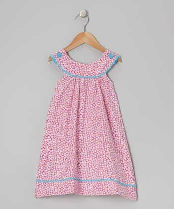Pink Floral Yoke Dress - Toddler & Girls