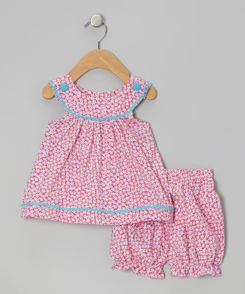 Pink Floral Yoke Tunic & Bloomers - Infant & Toddler