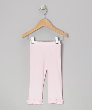 Light Pink Ruffle Capri Leggings - Infant, Toddler & Girls