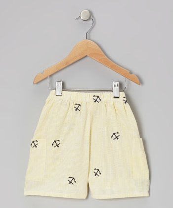 Yellow Anchor Shorts - Toddler & Girls