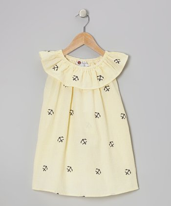 Yellow Anchor Ruffle Dress - Toddler & Girls