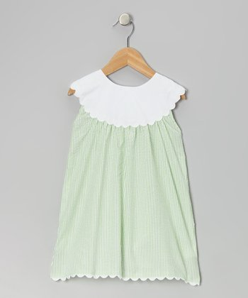 Green Yoke Dress - Infant, Toddler & Girls