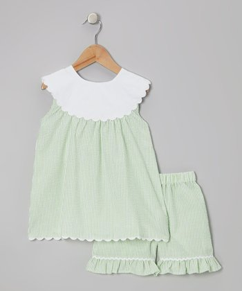 Green Yoke Tunic & Shorts - Toddler & Girls