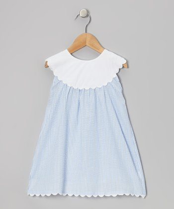 Blue Yoke Dress - Infant, Toddler & Girls