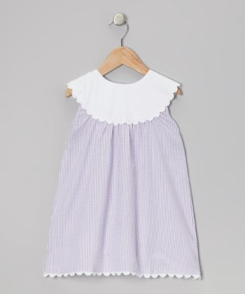Purple Yoke Dress - Infant, Toddler & Girls