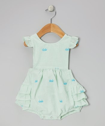 Green Crab Ruffle Bubble Sunsuit - Infant & Toddler