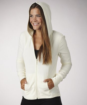 Cloud Cream Fleece Zip-Up Hoodie