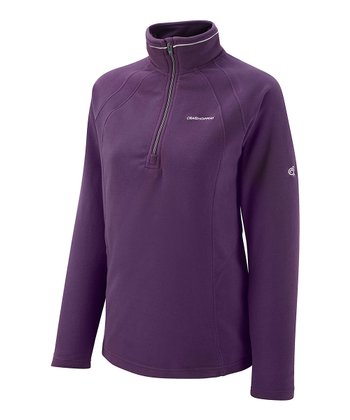 Dark Plum Miska Fleece Pullover