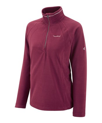 Dark Cerise Miska Fleece Pullover