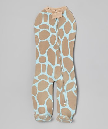 Blue Giraffe Leggies Swaddle