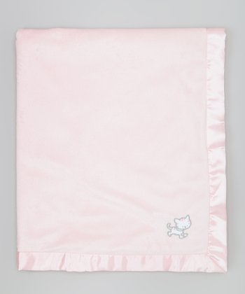 Pink Lil' Kitty Stroller Blanket