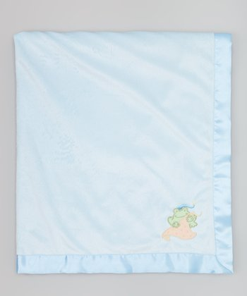 Blue Magic Frog Stroller Blanket