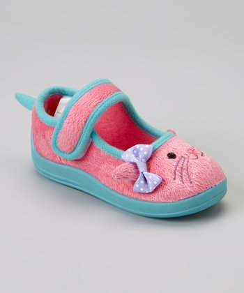 Light Pink Bunny Plush Mary Jane Slipper