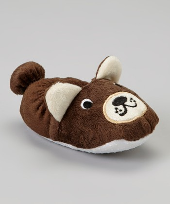 Brown Bear Plush Slipper