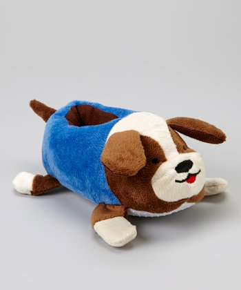 Tan Dog Plush Slipper