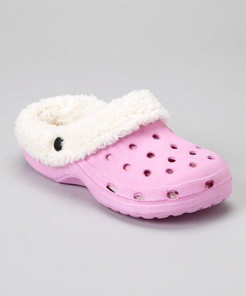 Light Pink Sherpa Clog Slipper