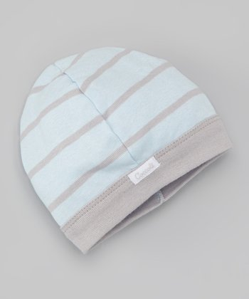 Blue & Gray Stripe Beanie