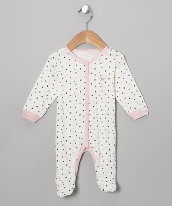 Pink Mocha Dot Footie - Infant