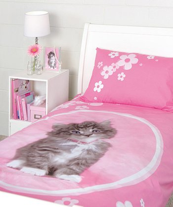 Pink Kitten Duvet Set