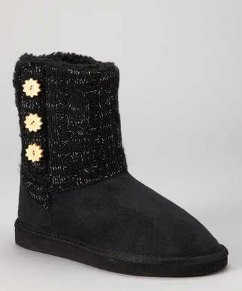 Black Button Boot