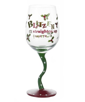 'Blitzen' Tipsy Wine Glass