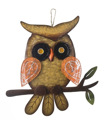 Orange Owl Wall Art