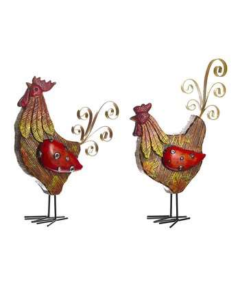 Rooster Figurine Set