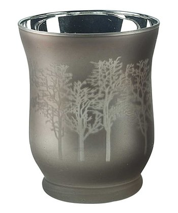 Metallic Tree Votive Holder