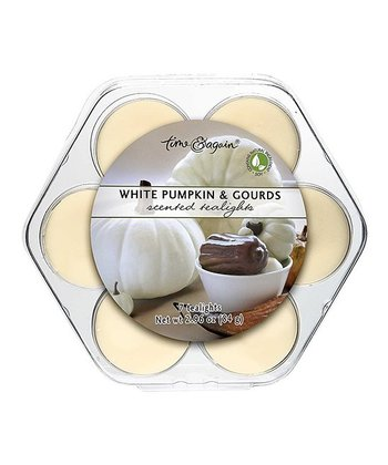 White Pumpkin & Gourds Tea Light Set