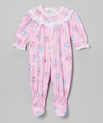 Pink Snowfriends Rhumba Footie - Infant