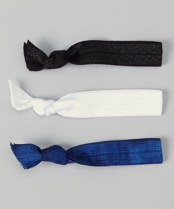 Black, Navy & White Hair Tie Set