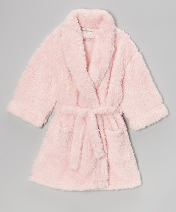 Pink Sherpa Bathrobe - Girls