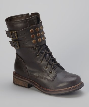 Brown Studded Propper Boot