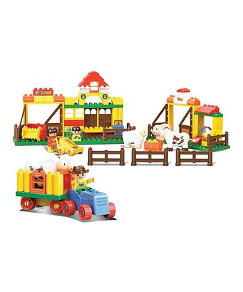 Big Blocks Happy Farm 85-Piece Blocks Set
